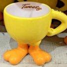 Six Flags Magic Mountain Looney Tunes Tweety Bird Footed Ceramic Mug New