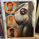 Disney WonderGround Gallery Star Wars Bb-8 and Friends Postcard Joe Corroney