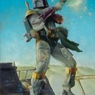 Disney WonderGround Star Wars Boba Fett Disarmed Deluxe Print Steven Daily New