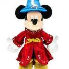 "Disney Parks Disneyland 2017 Sorcerer Mickey Mouse 12"" Plush New With Tags"