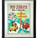 Disney WonderGround Mr. Toad's Wild Ride Framed Giclee Dave Perillo New in Box