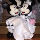 Disney Parks Mickey & Minnie Mouse Bride & Groom Ceramic Wedding Figure New