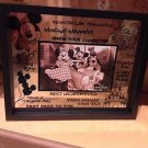 Disney Parks Glass Picture Photo Frame with Quotes Best Vacation Ever New in Box