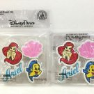 DISNEY PARKS ARIEL ERASER SET LOT OF 2 NEW AND SEALED