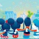 Disney WonderGround Gallery Fab 6 Main Street Postcard by Fenway Fan New