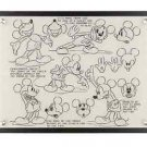 DISNEY PARKS EXCLUSIVE ACRYLIC MICKEY MOUSE COLLECTIBLE MODEL SHEET NEW