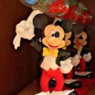 Disney Parks Mickey Mouse Resin Figurine Photo Holder / Paper Weight New