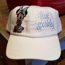 Disney Parks Minnie Mouse Live Sparkly Adjustable Hat Cap New