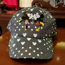 Disney Parks Mickey Mouse and Minnie Mouse Love Kiss Strapback Hat Cap New