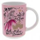 Disney Parks France Watercolor Ceramic Mug Princess Aurora New