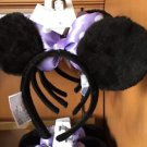 Disney Parks Minnie Mouse Ears Headband Purple Bow With Polka Dots New