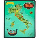 Walt Disney World Epcot Italy Map Tin Metal Sign New and Sealed
