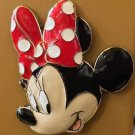 DISNEY PARKS MINNIE MOUSE FACE ACRYLIC METAL MAGNET NEW