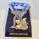Disneyland 60th Diamond Celebration D Pin Of The Month Dumbo Jeweled New