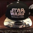 Disney Parks Star Wars Rogue One Rebel Baseball Cap Snapback Black Hat New