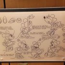 DISNEY PARKS EXCLUSIVE ACRYLIC MINNIE MOUSE COLLECTIBLE MODEL SHEET NEW