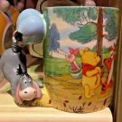DISNEY PARKS EEYORE FROM WINNIE THE POOH UNIQUE HANDLE CERAMIC MUG NEW