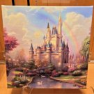 Disney Parks Cinderella Castle Wrap Print Thomas Kinkade Studios New