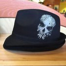 DISNEY PARKS HAUNTED MANSION HATBOX GHOST GRAVEYARD MENS FEDORA HAT NEW