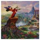 Disney Parks Sorcerer Mickey Mouse Fantasia Canvas Wrap by Thomas Kinkade New