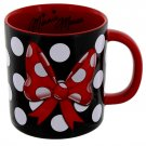 Disney Parks Minnie Mouse Bow With Polka Dots Ceramic Mug New