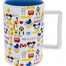 DISNEY PARKS CUTIES MICKEY MOUSE AND FRIENDS EMOTIONS CERAMIC MUG NEW