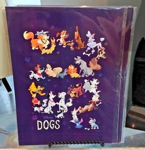 Disney WonderGround Gallery Disney Dogs Postcard by Bill Robinson New and Sealed