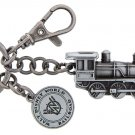 WALT DISNEY WORLD RESORT RAILROAD TRAIN METAL KEYCHAIN NEW