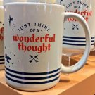 DISNEY PARKS JUST THINK OF A WONDERFUL THOUGHT MUG NEVERLAND PETER PAN NEW