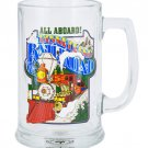 Disneyland Resort All Aboard! Train Railroad Tall Glass Mug Cup New