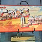 DISNEY PARKS DCA CARS LAND BILLBOARD WOOD PLAQUE SIGN NEW IN BOX