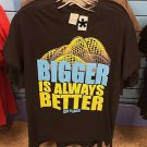 Six Flags Magic Mountain Bigger Is Always Better Mens Shirt SIZE: S,M,L XL,XXL