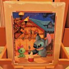 Disney Parks Stitch in Ohana Happens Here Deluxe Matted Print by Doug Bolly New