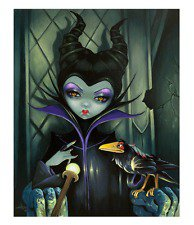 Disney WonderGround Maleficent Enthroned LE Canvas Print Jasmine Becket-Griffith