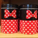 DISNEY PARKS MINNIE MOUSE SIGNATURE SALT PEPPER SHAKER SET OF 2 NEW