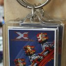 Six Flags Magic Mountain X2 Clear Acrylic Keyring Keychain New