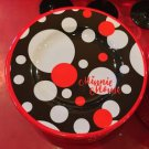 "Disney Parks Minnie Mouse Signature Polka Dots 7"" Dessert Plate New"