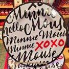 Disney Parks Minnie Mouse Signature Xoxo Melamine Dinner Plate New