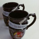 Disney Parks Alice in Wonderland Mad Tea Party Triple Tea Cup Set of 2 Cups New