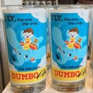 "DISNEY WONDERGROUND GALLERY FLY DUMBO AIR 6"" TALL GLASS CUP DAVE PERILLO NEW"