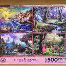 Disney Parks Thomas Kinkade Ariel Snow White Cinderella Aurora Puzzle Set of 4 New