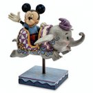 Disney Parks Mickey Mouse & Dumbo Flying Elephants Ride Figure by Jim Shore New