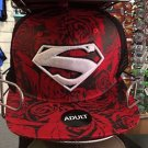 Six Flags Magic Mountain Superman Shield Red Meshed Adjustable Snapback Hat Cap