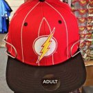 Six Flags Magic Mountain DC The Flash White Stripe Adjustable Snapback Hat Cap