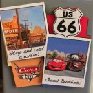DISNEY PARK DCA PIXAR CARS CARS LAND ROUTE 66 STOPE AND REST COLLAGE MAGNET NEW