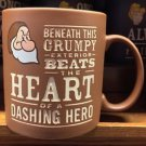 Disney Parks Beneath This Grumpy Beats The Heart of Dashing Hero Ceramic Mug New
