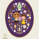 Disney WonderGround Beauty and The Beast Deluxe Print by Jerrod Maruyama New