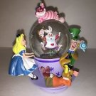 Disney Parks Alice in Wonderland Spinning Tea Cup Resin Snow Globe New w/ Box