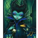 Disney WonderGround Gallery Maleficent Enthroned Magnet Jasmine Becket-Griffith