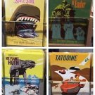 Disney Parks Star Wars Metal Magnets Set of 4 New
